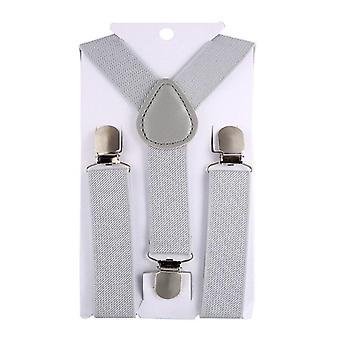 Barn hängslen Bow Tie Baby Tre Clips Hängslen Vintage för byxor bröllop