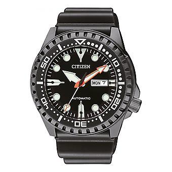 Męski zegarek CITIZEN ZEGARKI NH8385-11EE - Silikonowy pasek czarny