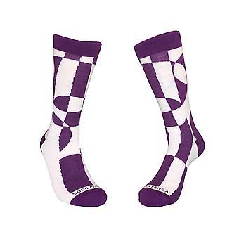Purple Geometric Patterned Socks
