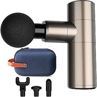 2020 Upgated Mini Massage Gun, 4 Speeds Portable Handheld Percussion Massagers for Sore Muscles,