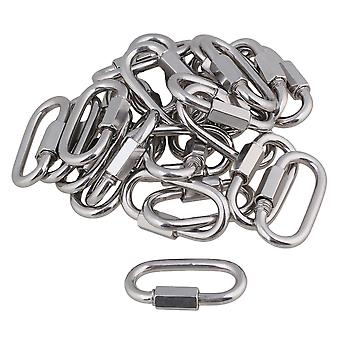 25pcs Quick Link Lock Carabiner For Camping Hiking Fishing DIY Accessories M5