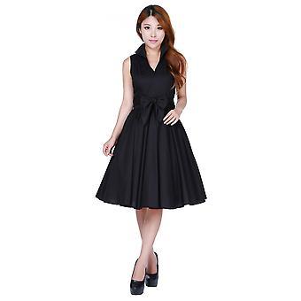 Chic Star Sleeveless Dress In Black