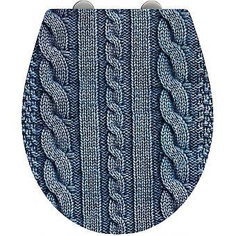 Toiletbril Cozy 37,5 x 44,5 cm blauw