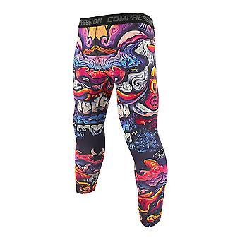 Pantalon serré élastique coloré de leggings d'hommes respirants de vache