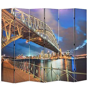 vidaXL room divider foldable 228 x 170 cm Sydney Harbour Bridge