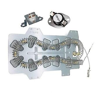 DC47-00019A Heating Element, DC47-00018A Thermostat, DC96-00887A Thermofuse Replacement For Samsung Whirlpool Kenmore Dryer Heater Replace WP350012247 35001092 503497 DC96-00887C