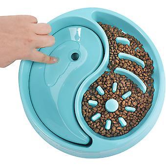 Bol de chien d'alimentation anti-gorgage - alimentation lente pour la nourriture d'animal familier (bleu)