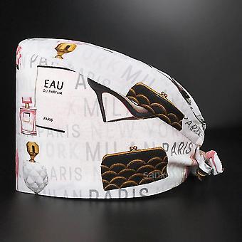 Nová elastická matná čiapka vysoko kvalitná kreslená tlač chirurgická čiapka