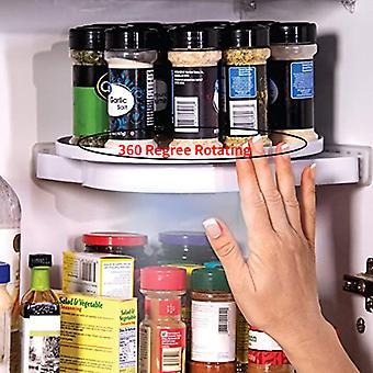 Estante de almacenamiento multifunción giratorio estante estante de almacenamiento de especias bandeja perforada para baño cocina refrigerador cosméticos maquillaje