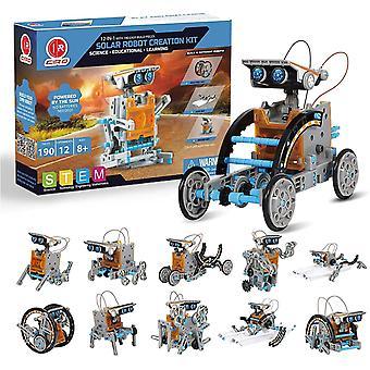 FengChun Solar Roboter Kinder Konstruktionsspielzeug ab 8 Jahre, 12-IN-1 MINT Lernspielzeug