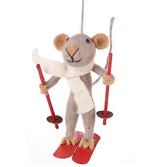 Felt Marcel Mouse Hanging Decoration