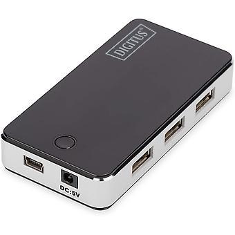 FengChun USB-Hub - 7 Anschlüsse - High-Speed USB 2.0 - 480 MBit/s - PlugPlay - Anschluss-Kabel 66 cm -