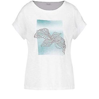 Gerry Weber 370302 T-Shirt, Ecru/Bianca Print, 40 Woman