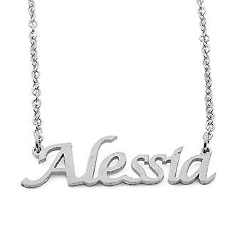 KL Kigu Alessia Naisten kaulakoru henkilökohtainen nimi, trendikkäitä koruja, lahja tyttöystävälle, äidille, sisko
