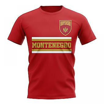 T-shirt Montenegro Core Football Country (Rosso)