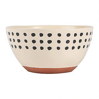 Keramik gefleckt Rim Getreide Schale gemustert farbige Geschirr 15cm Monochrom