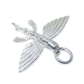Flying Fish Sterling Silver Charm .925 X 1 Fishes Charms - 15335