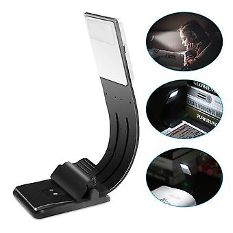 Led Usb Charge Book Lights Dimmable Fold Bending Adjust Clip On Read Night Lamp