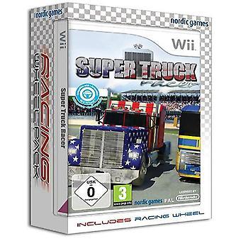 Super Truck Racer with Racing Wheel Nintendo Wii Game