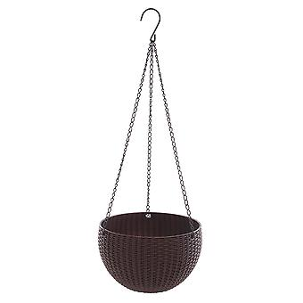 Garden Plant Hanger Macrame With Chain For Home Dcor Brown