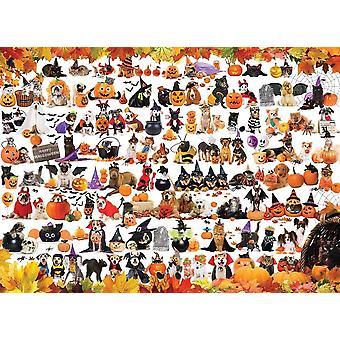 Eurographics Halloween Pets Jigsaw Puzzle (1000 Piezas)