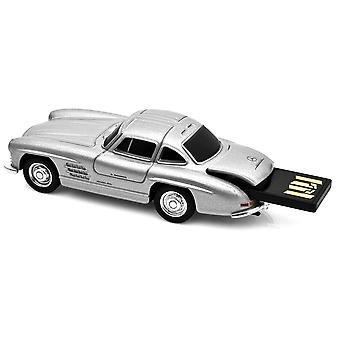 Mercedes Benz 300SL Gullwing bil USB-minne 16Gb - Silver