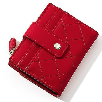 Ultra-thin multi-card slot pu card holder simple short ladies coin purse(Color-5)