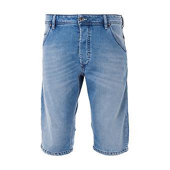 Diesel Kroshort Lyocell Denim Shorts - Light Blue