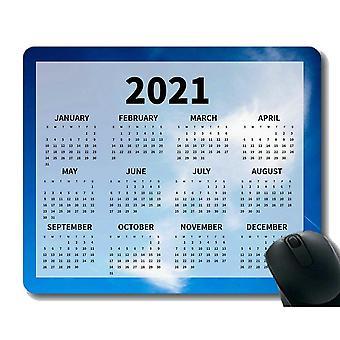 (260x210X3) Kalendář 2021 Rok Podložka pod myš, Mraky v modré obloze Měkké podložky pod myš