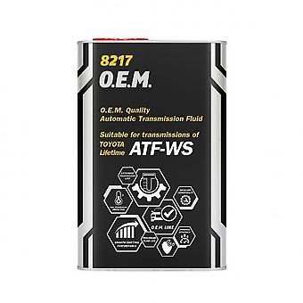 Mannol 1L Fluide de transmission automatique O.E.M. Toyota ATF WS JWS 3324