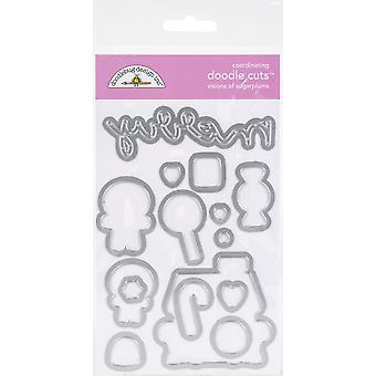 Doodlebug Doodle Cuts Dies - Visionen von Zuckerpflaunen