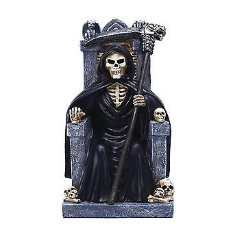 Kauhu throne kuoleman lahja Halloween, 23 x12x12cm nastapatsas koristeet