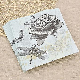 Paper napkins printed face tissue paper for personal household hygiene and party sm145604