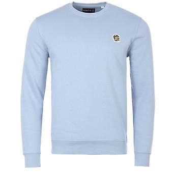 Forty Parker Organic Cotton Blend Sweatshirt - Cyanus Blue