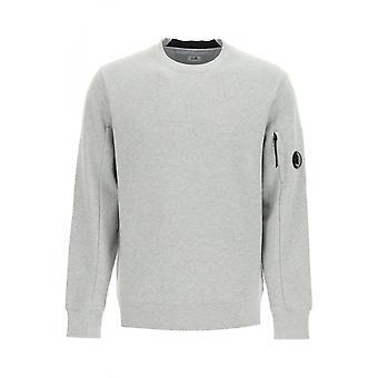 C.P. Company Cotton Lens Logo Crew Neck Grå Sweatshirt