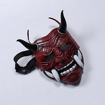 Samurai naamio japanilainen cosplay naamiot pelottava lateksi ripsivärit kauhu anime kasvot naamioi halloween-asut rekvisiitta karnevaali ripsivärit