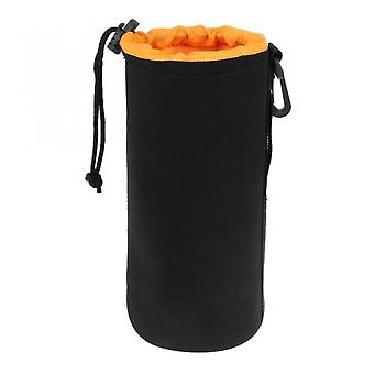 Waterproof Soft Neoprene Camera Lens Pouch Bag Drawstring Protector Case Padded Camera Lens Bag Case For Sony Canon