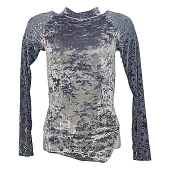WynneLayers By MarlaWynne Bodysuit Long And Mesh Sleeve Silver 719268