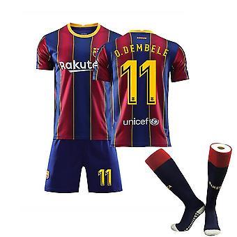 O.dembele #11 Home 2020/2021 Nuova Stagione Barcellona Soccer 2021 Home Jersey T Shirt Set Per Bambini Giovani