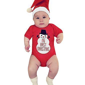 Baby Crăciun Romper tricotate Salopeta Toddle Kids maneci Baby Christmas Jumper