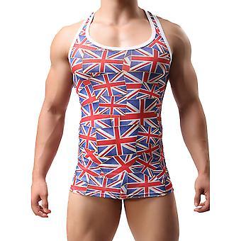 Men Sleeveless Undershirt Fitness Sport Bodybuilding Tank Stretch Slim Top
