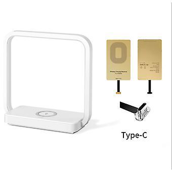 Multifunktionale Tischlampe Nachttischlampe Einzelzimmer Kreativ Modernes Handy Laden Drahtlose Leselampe