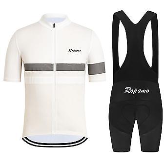Sommer Cykling Jersey Mænd Kortærmet Shirt Mountain Bike Trøjer Quick Dry Cykling 20d Gel Pad