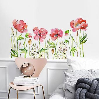 Różowy kwiat roślina naklejki ścienne naklejki naklejki sypialnia dekoracja domu Post