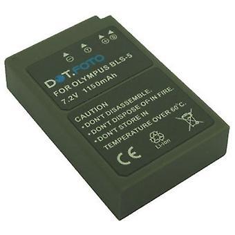 Dot.Foto Olympus BLS-5, BLS-50 erstatningsbatteri - 7,2 v / 1150mAh