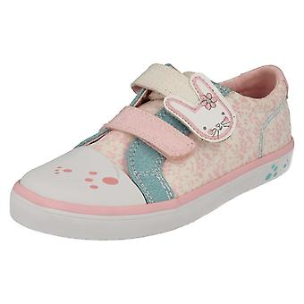 Filles Clarks toile Casual Shoes Gracie Bea