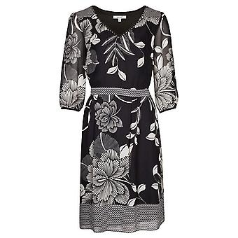 Per Una Monochrome Floral Dress DR896-12