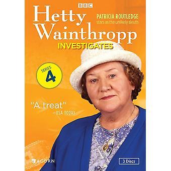 Hetty Wainthropp Investigates: Series 4 [DVD] USA import