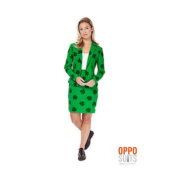 Dames de St Patricks Day girl costume Opposuit Irlande Slimline 2 prime UE tailles