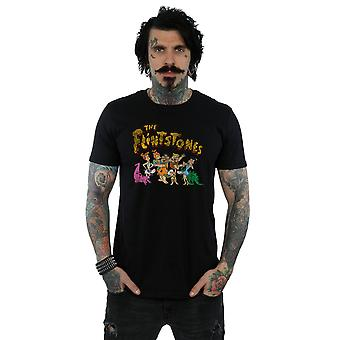 The Flintstones Men's Group Distressed T-Shirt